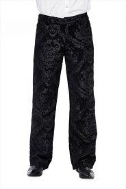 【Devil Fashion】ゴシックボタニカル模様が描かれた東洋のエンペラー風 王朝デザインロングパンツ ゴシックパンク ブラック メンズ Mサイズ PT094M【SSMay15_point20】【20P30May15】