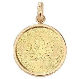 純金 カナダ メイプルリーフ 金貨 1/10oz コイン ペンダントトップ シンプル K18 枠 新品 送料無料 メンズ レディース プレゼント ギフト 贈り物 誕生日 人気 おしゃれ かわいい かっこいい アク