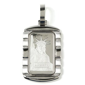プラチナ インゴット 20g ペンダントトップ リバティ 自由の女神 デザイン枠 新品 送料無料 メンズ レディース プレゼント ギフト 贈り物 誕生日 人気 おしゃれ かわいい かっこいい アクセサリー 首飾り ネックレス ヘッド チャーム