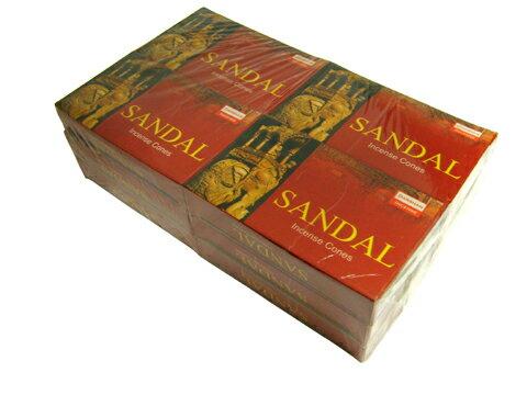 お香 ダルシャン サンダル香 コーンタイプ /DARSHAN SANDAL CORN/インセンス/インド香/アジアン雑貨(12箱セット!ポスト投函配送選択可能です/送料2通分が掛かります)
