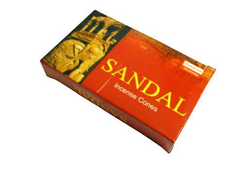 お香 ダルシャン サンダル香 コーンタイプ /DARSHAN SANDAL CORN/インセンス/インド香/アジアン雑貨(ポスト投函配送選択可能です/6箱毎に送料1通分が掛かります)