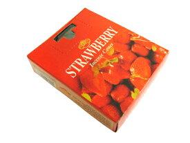お香 ストロベリー香コーンタイプ /SAC STRAWBERRY CORN/インセンス/インド香/アジアン雑貨(ポスト投函配送選択可能です/6箱毎に送料1通分が掛かります)