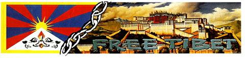 ポタラ宮とチベット国旗のフリーチベットステッカー! /エスニック/アジアン雑貨(DM便選択で送料99円)