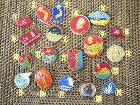 ベトナムのコテコテ社会主義ピンバッチ/エスニック/アジアン雑貨(ポスト投函配送選択可能です)