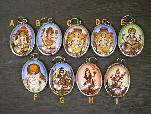 インドの神様メタルペンダントヘッド/アジアンアクセサリー/エスニック/アジアン雑貨/(ポスト投函配送選択可能です)