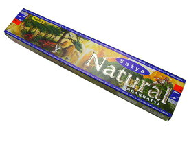 お香 ナチュラル香 スティック マサラタイプ/SATYA NATURAL/インセンス/インド香/アジアン雑貨(ポスト投函配送選択可能です/6箱毎に送料1通分が掛かります)