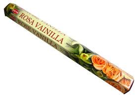 お香 ローズバニラ香 スティック /HEM ROSE VANILLA/インセンス/インド香/アジアン雑貨(ポスト投函配送選択可能です/6箱毎に送料1通分が掛かります)