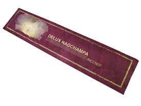 お香 ネパールのロクタ紙にヒマラヤの押し花のお香(DELUX NAGCHAMPAデラックスナグチャンパ) スティック /オールナチュラル&オールハンドメイドインセンス/インド香やネパール香/アジアン雑貨(ポスト投函配送選択可能です/6箱毎に送料1通分が掛かります)