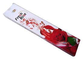 お香 フレッシュローズ香 スティック /FRESH FRAGRANCES FRESH ROSE/インセンス/インド香/アジアン雑貨(ポスト投函配送選択可能です/3箱毎に送料1通分が掛かります)
