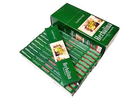 お香 ハーバリナ香 スティック /NANDITA HERBALINA/インセンス/インド香/アジアン雑貨(12箱セット!ポスト投函配送選択可能です/送料2通分が掛かります)