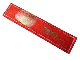 お香 ネパールのロクタ紙にヒマラヤの押し花のお香(Strawberryストロベリー) スティック /オールナチュラル&オールハンドメイドインセンス/インド香やネパール香/アジアン雑貨(ポスト投函配送選択可能です/6箱毎に送料1通分が掛かります)