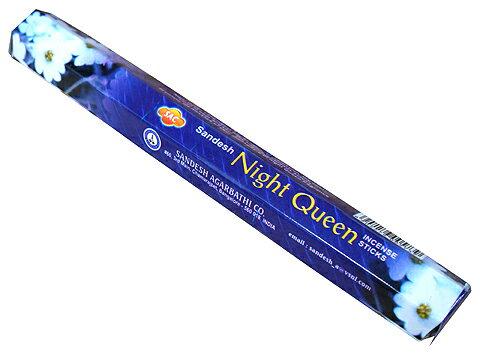 お香 ナイトクィーン香 スティック /SAC NIGHT QUEEN/インセンス/インド香/アジアン雑貨(ポスト投函配送選択可能です/6箱毎に送料1通分が掛かります)