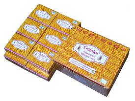 お香 ゴロカ ナグチャンパ香 コーンタイプ/GOLOKA NAG CHAMPA CORN/インセンス/インド香/アジアン雑貨(12箱セット!ポスト投函配送選択可能です/送料1通分が掛かります)