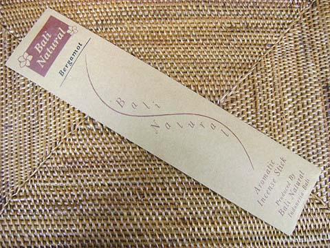 お香 バリのお香BALI NATURALバリナチュラル BERGAMOTベルガモット スティック /バリ島より直輸入日本では当店のみの販売!/インセンス/インド香/アジアン雑貨(ポスト投函配送選択可能です/6箱毎に送料1通分が掛かります)