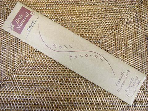 お香 バリのお香BALI NATURALバリナチュラル GRASSグラス スティック /バリ島より直輸入日本では当店のみの販売!/インセンス/インド香/アジアン雑貨(ポスト投函配送選択可能です/6箱毎に送料1通分が掛かります)