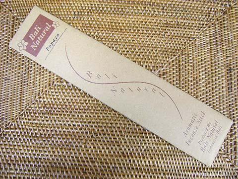 お香 バリのお香BALI NATURALバリナチュラル PAPAYAパパイヤ スティック /バリ島より直輸入日本では当店のみの販売!/インセンス/インド香/アジアン雑貨(ポスト投函配送選択可能です/6箱毎に送料1通分が掛かります)