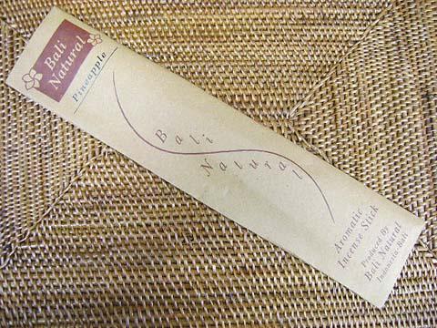 お香 バリのお香BALI NATURALバリナチュラル PINEAPPLEパイナップル スティック /バリ島より直輸入日本では当店のみの販売!/インセンス/インド香/アジアン雑貨(ポスト投函配送選択可能です/6箱毎に送料1通分が掛かります)