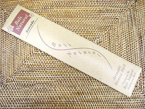 お香 バリのお香BALI NATURALバリナチュラル AVOCADOアボガド スティック /バリ島より直輸入日本では当店のみの販売!/インセンス/インド香/アジアン雑貨(ポスト投函配送選択可能です/6箱毎に送料1通分が掛かります)