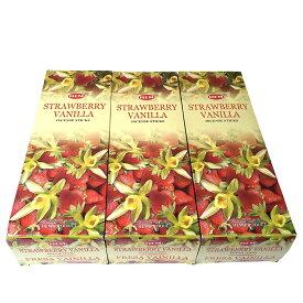 お香 ストロベリーバニラ香スティック 卸おまとめプライス3BOX(18箱) /HEM STRAWBERRY VANILLA/インセンス/インド香/ネコポス送料無料
