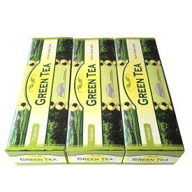 お香 グリーンティー香スティック 卸おまとめプライス3BOX(18箱)/TULASI GREEN TEA/インセンス/インド香/ネコポス送料無料