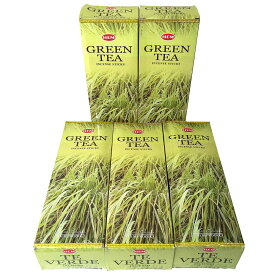 お香 グリーンティー香 スティック 卸おまとめプライス5BOX(30箱) /HEM Green Tea/ インド香/ 送料無料