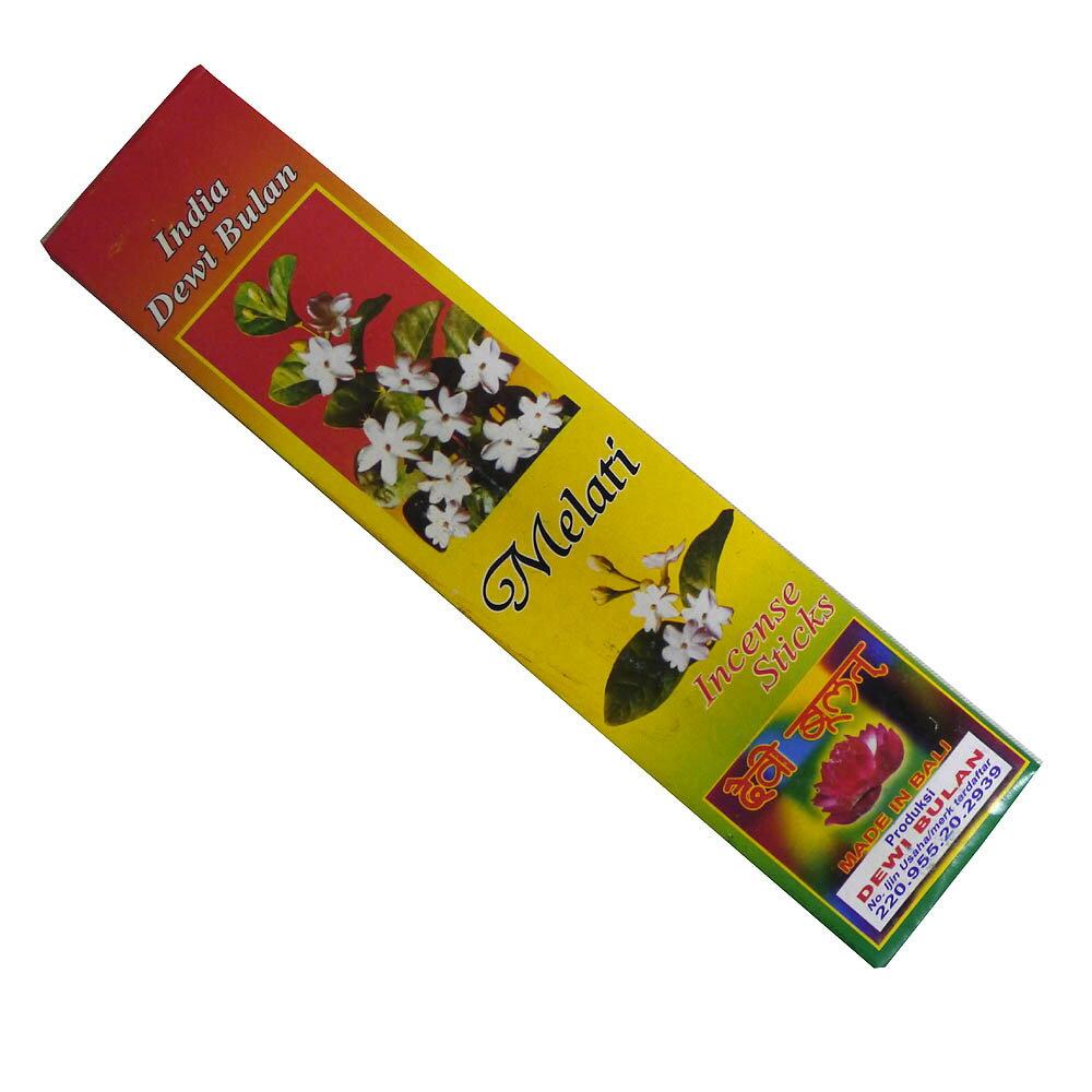 お香 バリのお香DEWI BULANデヴィブラン MELATIメラティ スティック /バリ島より直輸入!/インセンス/インド香/アジアン雑貨(ポスト投函配送選択可能です/6箱毎に送料1通分が掛かります)