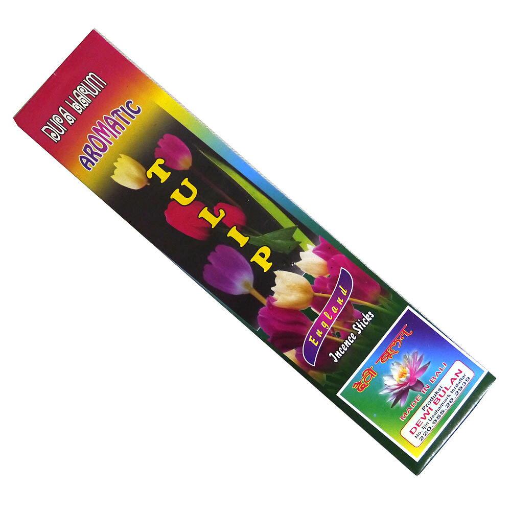 お香 バリのお香DEWI BULANデヴィブラン TULIPチューリップ スティック /バリ島より直輸入!/インセンス/インド香/アジアン雑貨(ポスト投函配送選択可能です/6箱毎に送料1通分が掛かります)