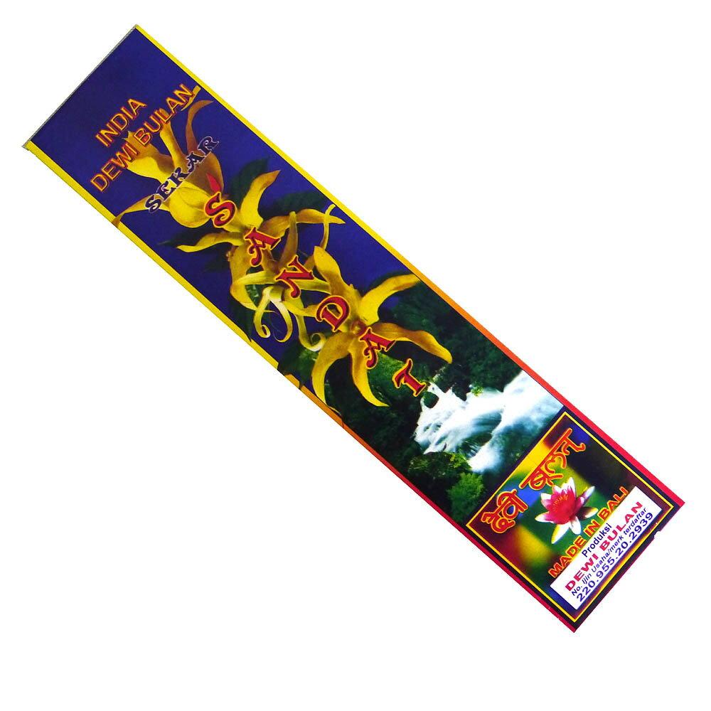 お香 バリのお香DEWI BULANデヴィブラン SANDATサンダット スティック /バリ島より直輸入!/インセンス/インド香/アジアン雑貨(ポスト投函配送選択可能です/6箱毎に送料1通分が掛かります)