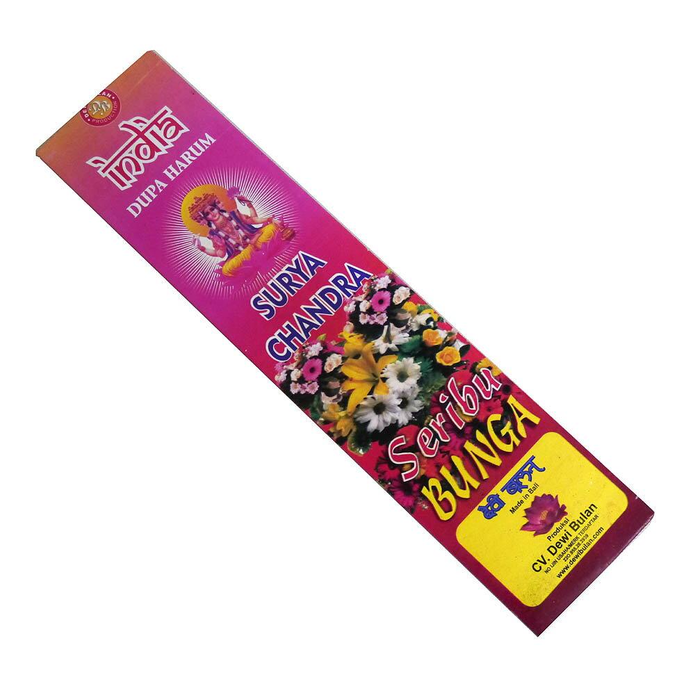 お香 バリのお香DEWI BULANデヴィブラン SERIBUBUNGAスリブブンガ スティック /バリ島より直輸入!/インセンス/インド香/アジアン雑貨(ポスト投函配送選択可能です/6箱毎に送料1通分が掛かります)