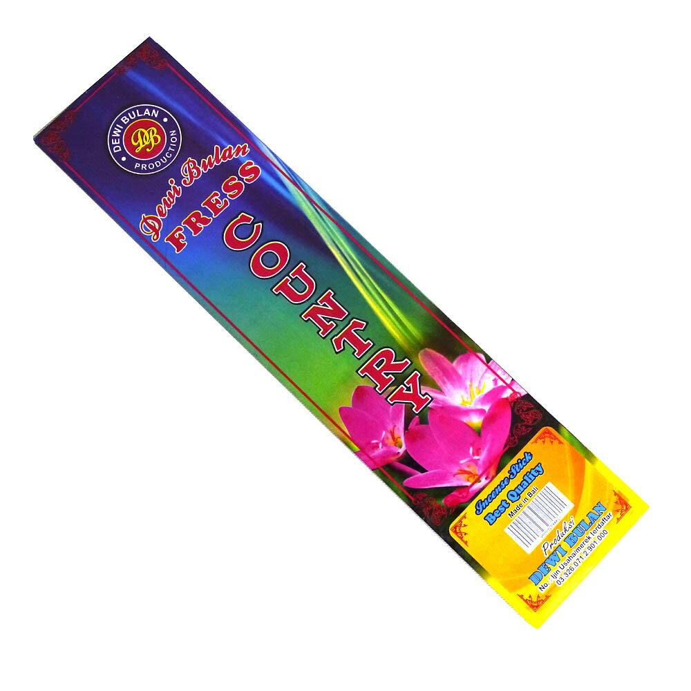 お香 バリのお香DEWI BULANデヴィブラン COUNTRYカントリー スティック /バリ島より直輸入!/インセンス/インド香/アジアン雑貨(ポスト投函配送選択可能です/6箱毎に送料1通分が掛かります)