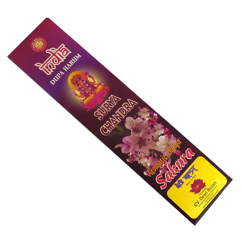 お香 バリのお香DEWI BULANデヴィブラン SAKURAサクラ スティック /バリ島より直輸入!/インセンス/インド香/アジアン雑貨(ポスト投函配送選択可能です/6箱毎に送料1通分が掛かります)