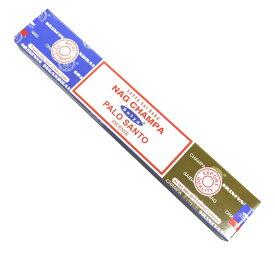 お香 ナグチャンパ&パロサント香スティック マサラタイプ/SATYA NAG CHAMPA&PALO SANTO/インセンス/インド香/アジアン雑貨(ポスト投函配送選択可能です/3箱毎に送料1通分が掛かります)