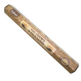 お香 ナグチャンパ&パロサント香 スティック /TULASI NAG CHAMPA&PALO SANTO/インセンス/インド香/アジアン雑貨(ポスト投函配送選択可能です/6箱毎に送料1通分が掛かります)