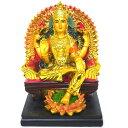 インドの神様ラクシュミの置物 カラフルバージョン42/エスニック/アジアン雑貨