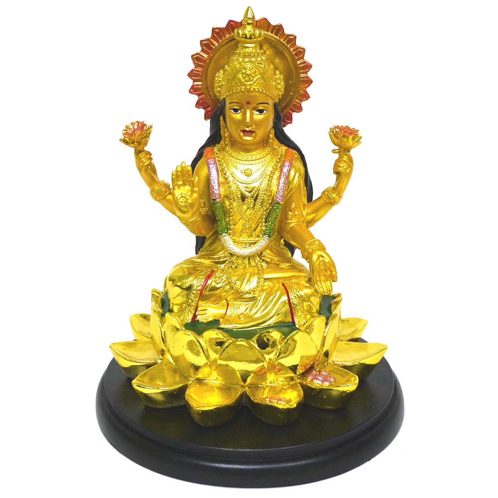 インドの神様ラクシュミーの置物 カラフルバージョン27/エスニック/アジアン雑貨