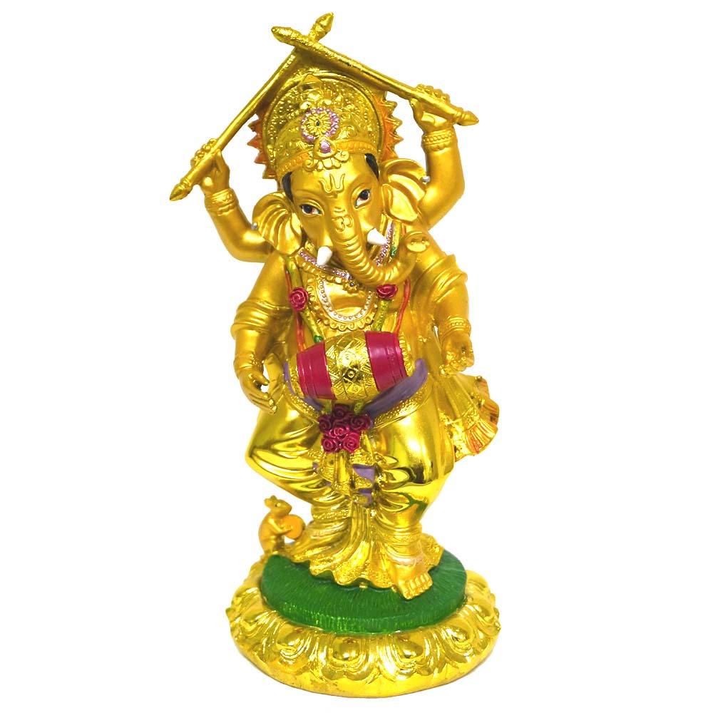 インドの神様ガネーシャの置物 カラフルバージョン10BIGサイズ!!/エスニック/アジアン雑貨