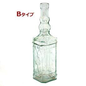 リサイクルガラスのボトル型吊り下げ式お香たて!Bタイプ 1個1個すべて手作りのガラスインセンスホルダー/インド香やネパール香のお香立てに!