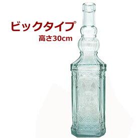 リサイクルガラスのボトル型吊り下げ式お香たて!ビックタイプNo.1 / 1個1個すべて手作りのガラスインセンスホルダー/インド香やネパール香のお香立てに!