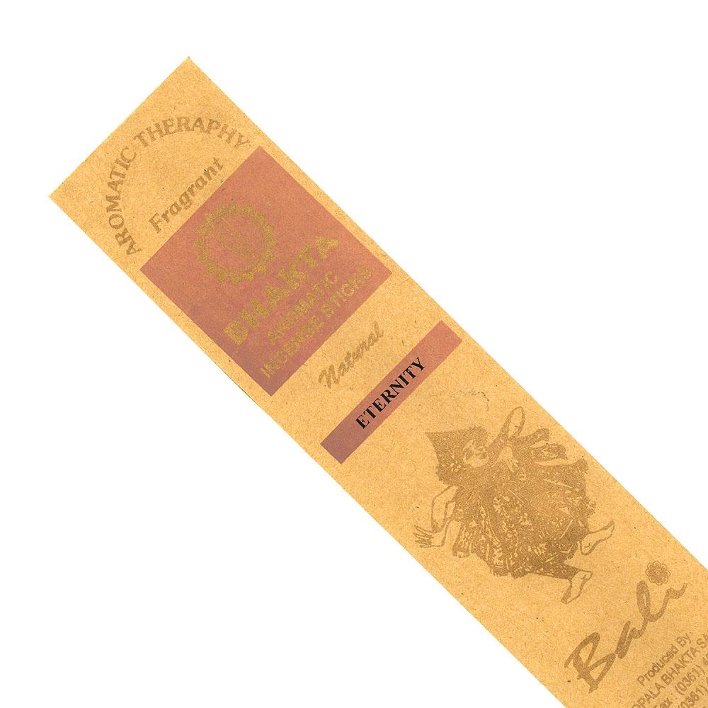 お香 バリのお香BHAKTA ETERNITYエタニティー スティック /BALI BHAKTA バクタ(バキタ)/バリ島より直輸入/インセンス/インド香/アジアン雑貨(ポスト投函配送選択可能です/6箱毎に送料1通分が掛かります)