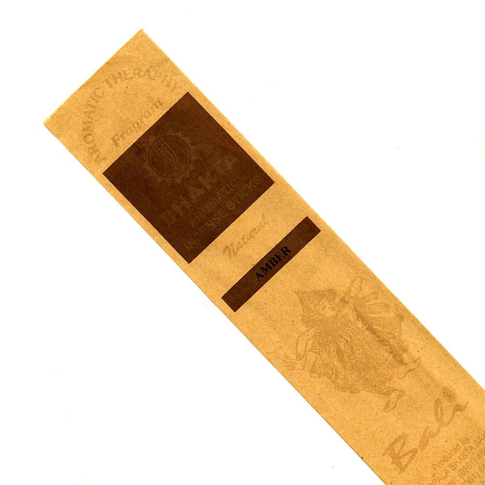 お香 バリのお香BHAKTA AMBERアンバー スティック /BALI BHAKTA バクタ(バキタ)/バリ島より直輸入/インセンス/インド香/アジアン雑貨(ポスト投函配送選択可能です/6箱毎に送料1通分が掛かります)