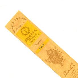 お香 バリのお香BHAKTA LEMONレモン スティック /BALI BHAKTA バクタ(バキタ)/バリ島より直輸入/インセンス/インド香/アジアン雑貨(ポスト投函配送選択可能です/6箱毎に送料1通分が掛かります)