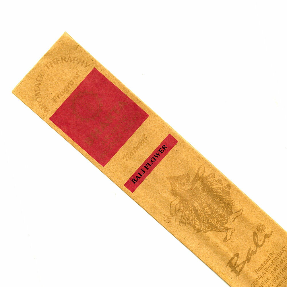 お香 バリのお香BHAKTA BALI FLOWERバリ フラワー スティック /BALI BHAKTA バクタ(バキタ)/バリ島より直輸入/インセンス/インド香/アジアン雑貨(ポスト投函配送選択可能です/6箱毎に送料1通分が掛かります)