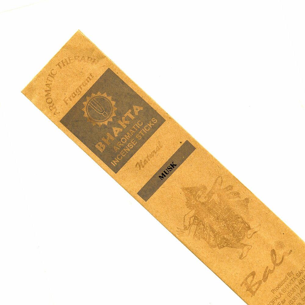 お香 バリのお香BHAKTA MUSKムスク スティック /BALI BHAKTA バクタ(バキタ)/バリ島より直輸入/インセンス/インド香/アジアン雑貨(ポスト投函配送選択可能です/6箱毎に送料1通分が掛かります)