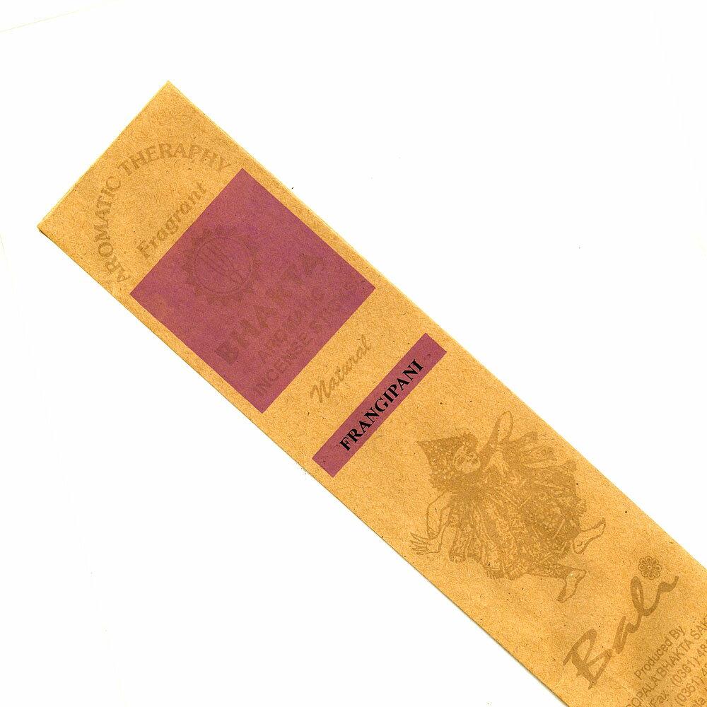お香 バリのお香BHAKTA FRANGIPANIフランジパニ スティック /BALI BHAKTA バクタ(バキタ)/バリ島より直輸入/インセンス/インド香/アジアン雑貨(ポスト投函配送選択可能です/6箱毎に送料1通分が掛かります)
