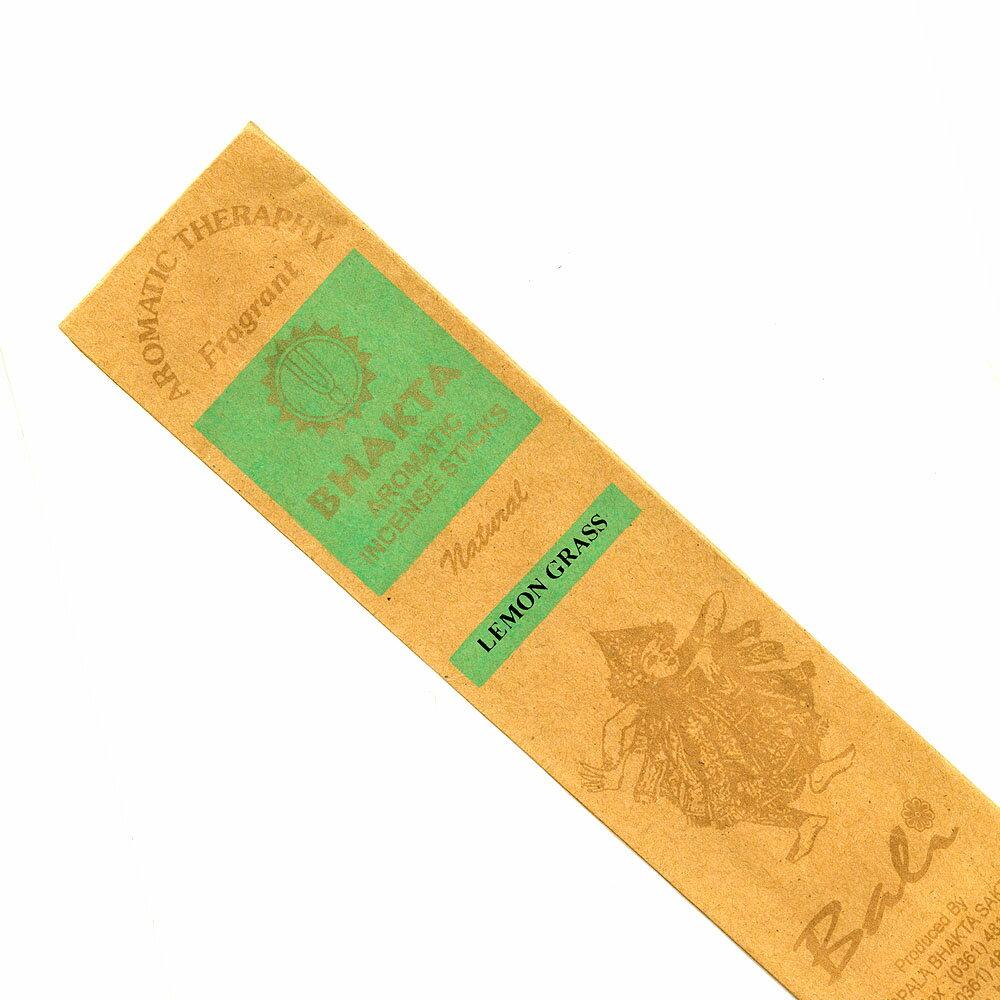 お香 バリのお香BHAKTA LEMONGRASSレモングラス スティック /BALI BHAKTA バクタ(バキタ)/バリ島より直輸入/インセンス/インド香/アジアン雑貨(ポスト投函配送選択可能です/6箱毎に送料1通分が掛かります)