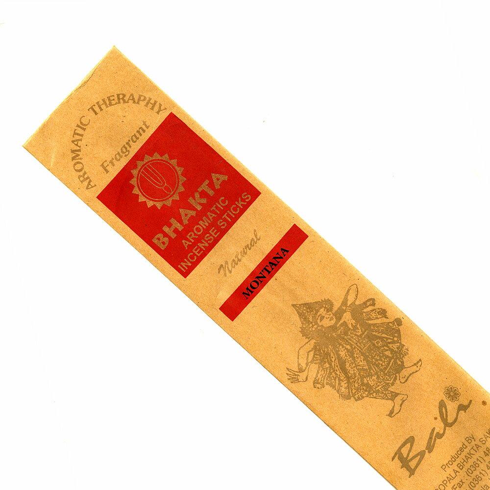 お香 バリのお香BHAKTA MONTANAモンタナ スティック /BALI BHAKTA バクタ(バキタ)/バリ島より直輸入/インセンス/インド香/アジアン雑貨(ポスト投函配送選択可能です/6箱毎に送料1通分が掛かります)