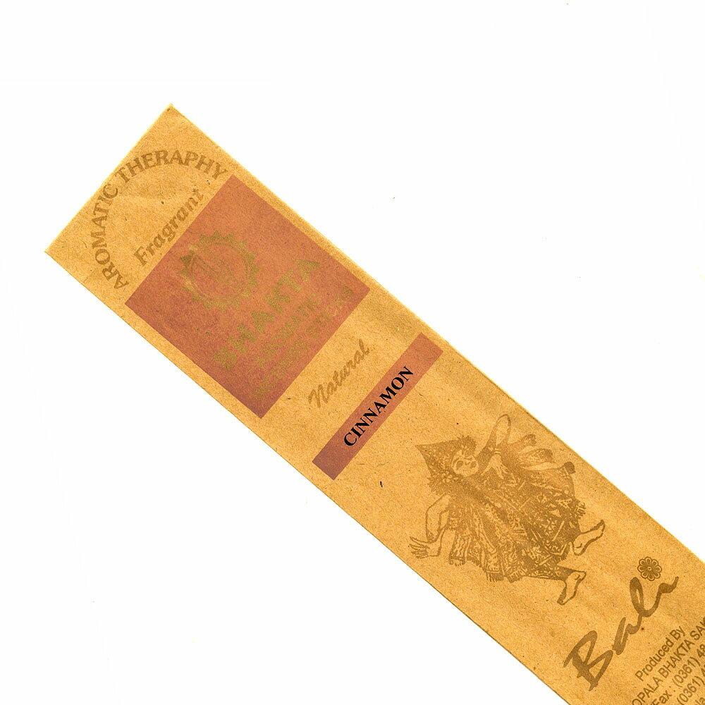 お香 バリのお香BHAKTA CINNAMONシナモン スティック /BALI BHAKTA バクタ(バキタ)/バリ島より直輸入/インセンス/インド香/アジアン雑貨(ポスト投函配送選択可能です/6箱毎に送料1通分が掛かります)
