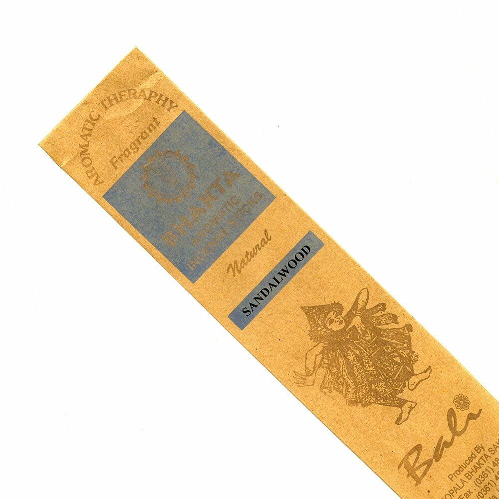 お香 バリのお香BHAKTA SANDALWOODサンダルウッド スティック /BALI BHAKTA バクタ(バキタ)/バリ島より直輸入/インセンス/インド香/アジアン雑貨(ポスト投函配送選択可能です/6箱毎に送料1通分が掛かります)