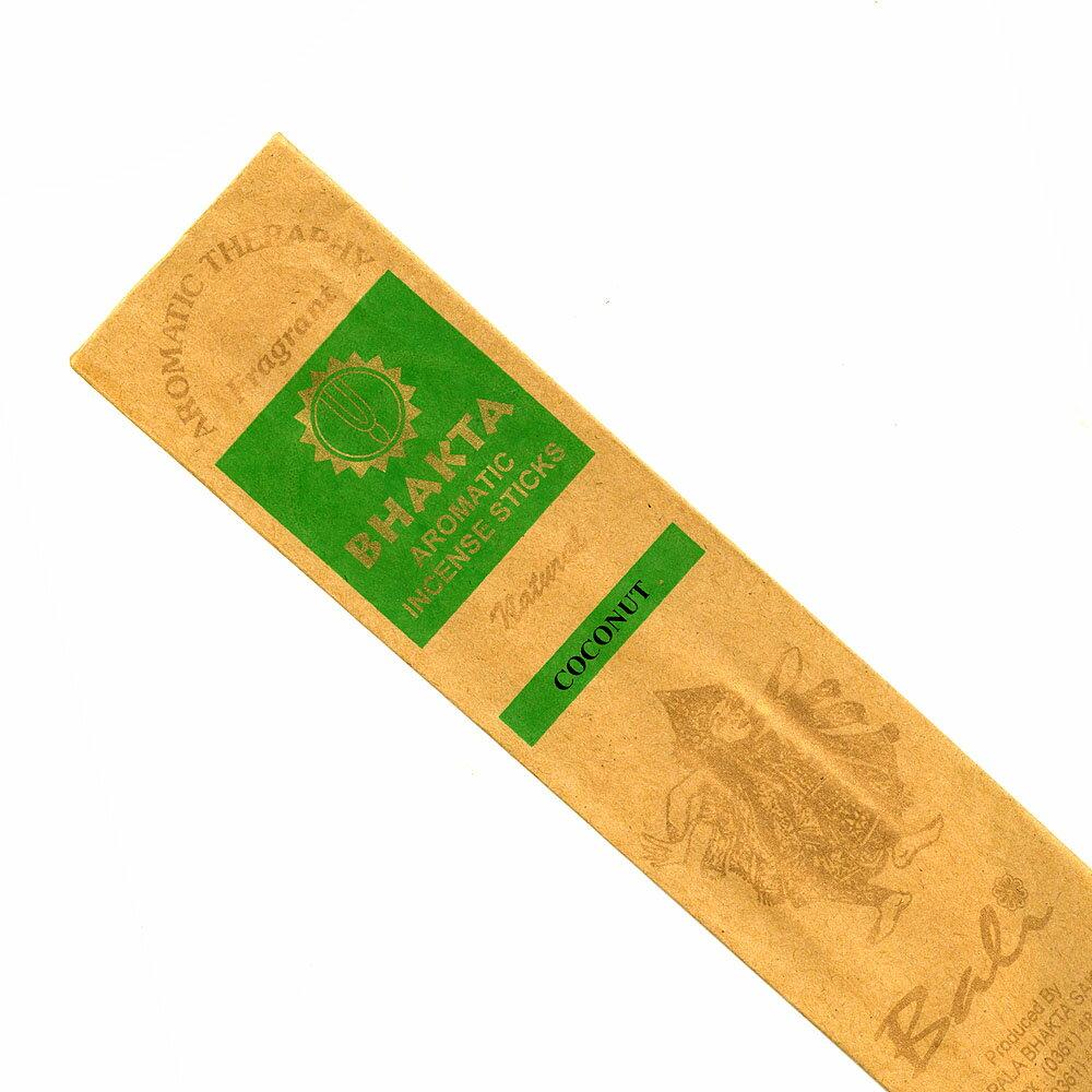 お香 バリのお香BHAKTA COCONUTココナッツ スティック /BALI BHAKTA バクタ(バキタ)/バリ島より直輸入/インセンス/インド香/アジアン雑貨(ポスト投函配送選択可能です/6箱毎に送料1通分が掛かります)