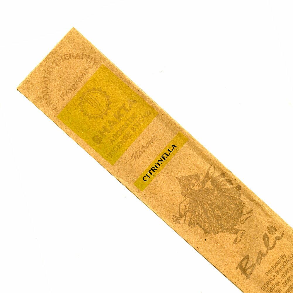 お香 バリのお香BHAKTA CITRONELLAシトロネラ スティック /BALI BHAKTA バクタ(バキタ)/バリ島より直輸入/インセンス/インド香/アジアン雑貨(ポスト投函配送選択可能です/6箱毎に送料1通分が掛かります)